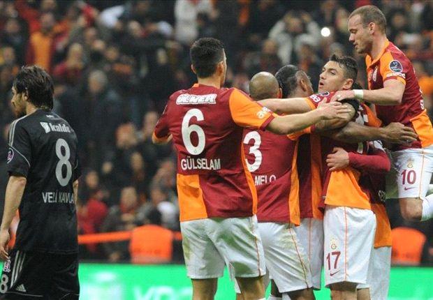 Einmal nur durfte Galatasaray gegen Besiktas jubeln - doch das reichte aus zum Derbysieg