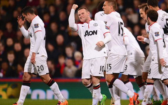 Wayne Rooney Crystal Palace Manchester United English Premier League 02222014