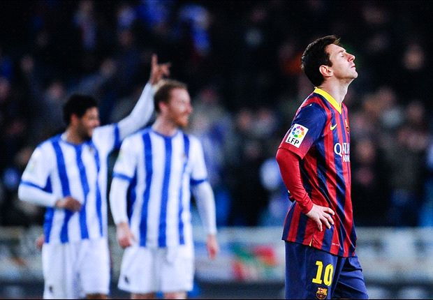 Real Sociedad 3-1 Barcelona: Messi strike not enough as Barca suffer Basque nightmare
