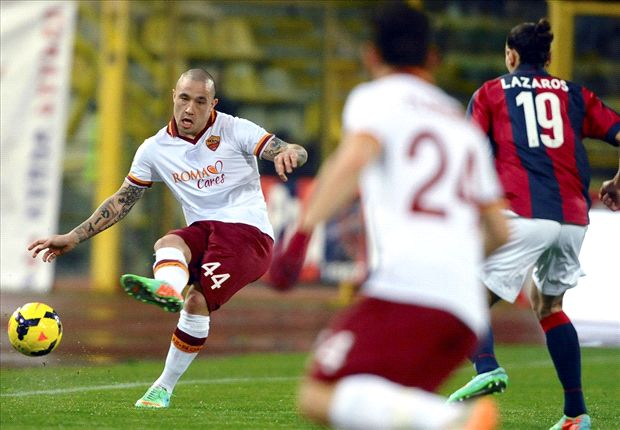 Bologna 0-1 Roma: Nainggolan goal keeps Giallorossi's title hopes burning