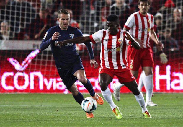 Almería 0-0 Málaga: Se impuso el miedo a perder