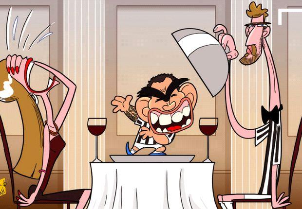 Carlos Tevez, entre Fernando Llorente y su novia.