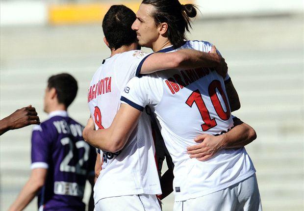 Toulouse 2-4 Paris Saint-Germain: Ibrahimovic notches hat trick