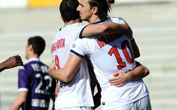 Zlatan Ibrahimovic Toulouse Paris SG Ligue 1 02232014