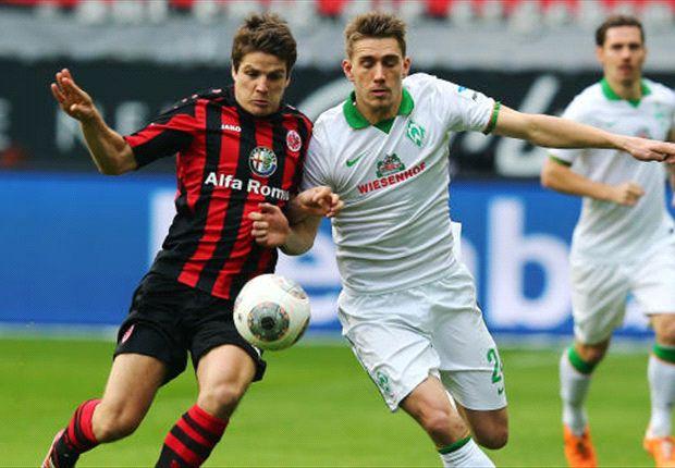 Umkämpftes Duell: Frankfurt und Bremen trennten sich Unentschieden