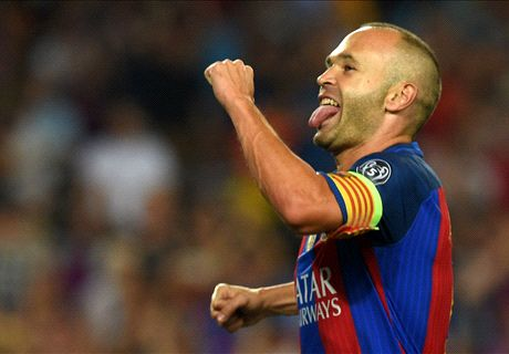 Voli Iniesta Jadi Gol Terbaik UCL Pekan Pertama