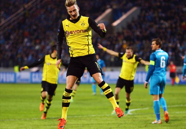 Zenit 2-4 Borussia Dortmund: Los de Klopp dejan la eliminatoria prácticamente sentenciada