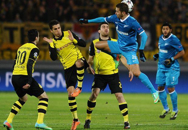 Zenit 2-4 Dortmund: Lewandowski double puts BVB firmly in control