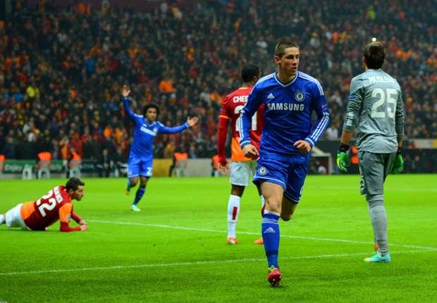 Da konnte der FC Chelsea bei Galatasaray Istanbul durch Fernando Torres noch jubeln.