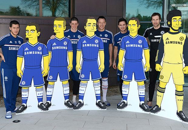 Chelsea team up with 'The Simpsons' for merchandise deal