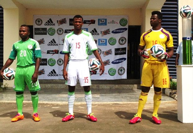 Uzoenyi, Shehu & Agbim in the new Nigeria jerseys