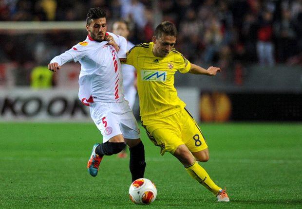 Diogo en la eliminatoria de dieciseisavos frente al Maribor