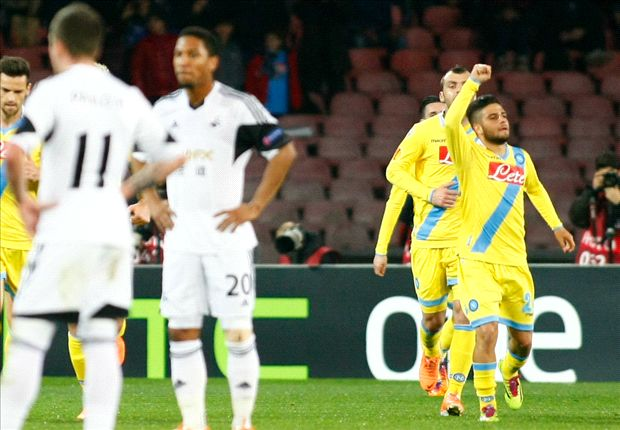 Napoli 3-1 Swansea City (3-1 agg): Higuain and Inler break Swans hearts