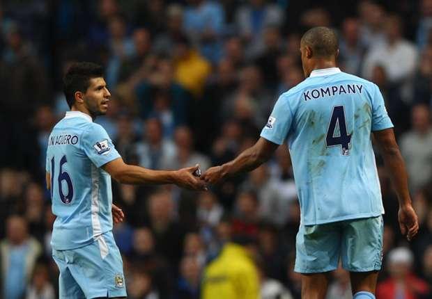 Aguero provides 'fear factor', says Kompany