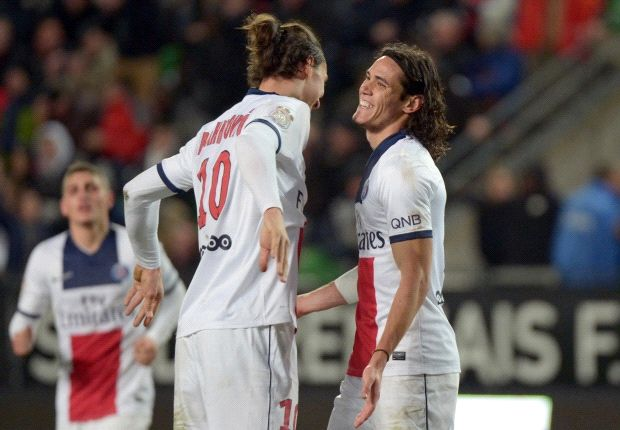 Al-Khelaifi hails 'efficient' strike partners Ibrahimovic and Cavani