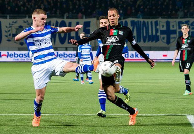 Veel doelpunten, maar geen winnaar in Zwolle