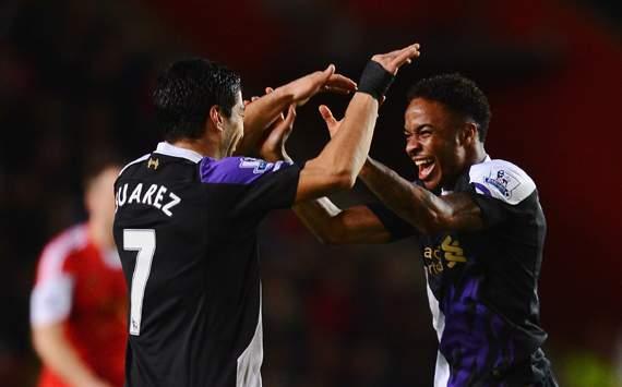 Luis Suarez Raheem Sterling Southampton  Liverpool Premier League 03012014