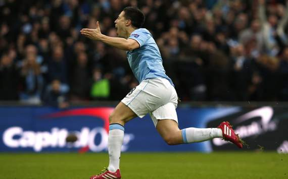 Samir Nasri Manchester City  Sunderland Capital one Final 02032014