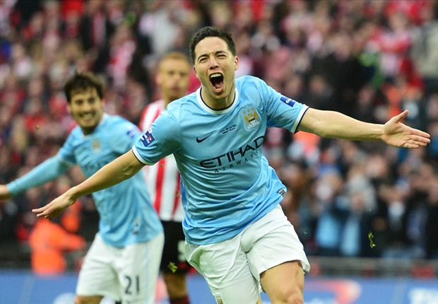 In pictures: Nasri helps seal Manchester City more silverware as Pepe mars Madrid derby