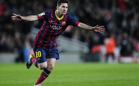 Lionel Messi Barcelona Almeria La Liga 03022014
