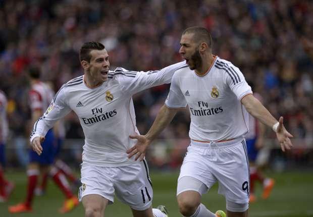 Karim Benzema is gelukkig in de aanvalslinie van Real Madrid