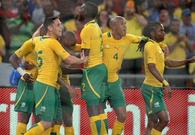 Bafana Bafana celebrate Bernard Parker's winner against Spain