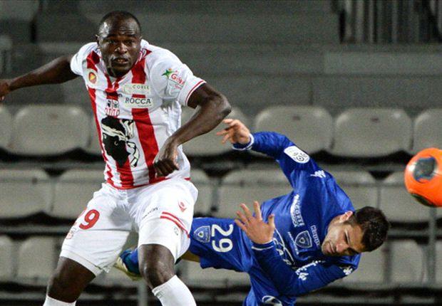 Oliech scores for AC Ajaccio in derby win