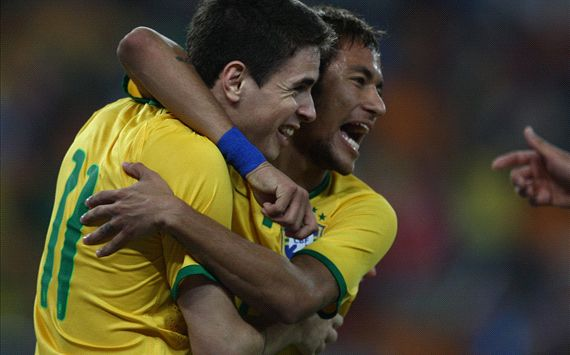 Oscar, Neymar - Brazil vs South Africa 03052014