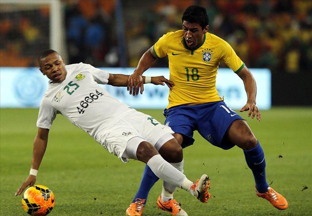 Bafana midfielder Andile Jali in action against Brazil