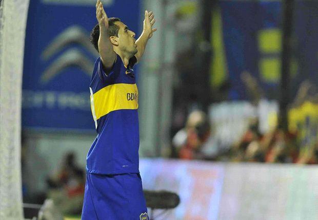 De cara a los hinchas que lo aman, Román volvió para gritar gol