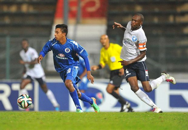 AFC Leopards' captain Martin Imbalambala in action against SuperSport United.