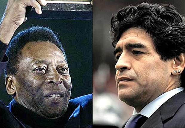 Calcio Comedy: Pele & Maradona In Birthday Punch-Up