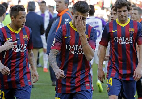 Barca slump to shock defeat at Valladolid