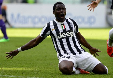 Asamoah sends Juve 14 points clear