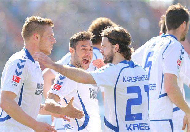 Karlsruhe hofft weiter auf den Durchmarsch von Liga drei in die Bundesliga