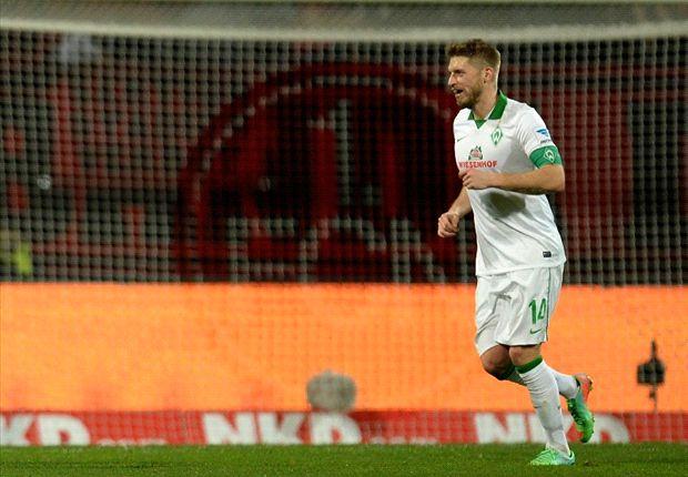 La insólita decisión de Aaron Hunt en el triunfo del Werder Bremen
