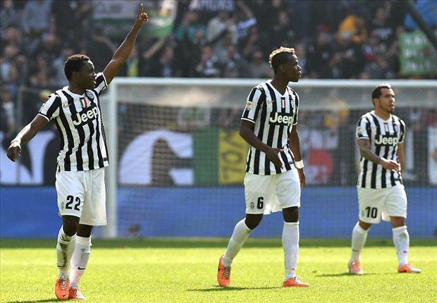 Los jugadores de la Juve celebrando