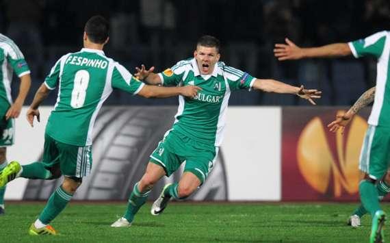 Ludogorets striker Roman Bezjak