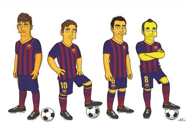 Los dibujos de los jugadores del Barcelona