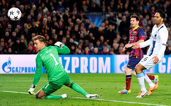 Lionel Messi Barcelona Manchester City Champions League 03122014