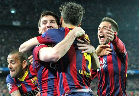 Messi raises the roof as City bows out - Wednesday's Champions League in pics