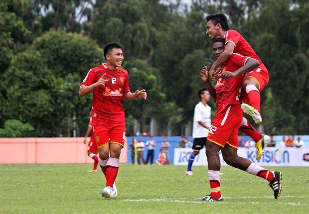 Persiba Bantul ditaklukkan Mitra Kukar, skor 2-1, di Stadion Sasan Krida, Yogyakarta, Minggu (16/3) petang.
