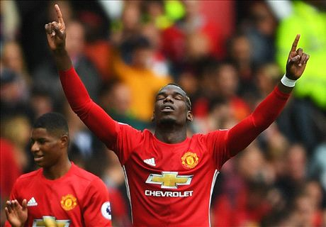 Pogba stars as Man Utd smash Leicester