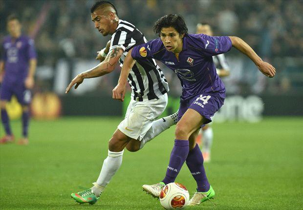 Arturo Vidal traf für Juventus Turin gegen die Fiorentina zum zwischenzeitlichen 1:0