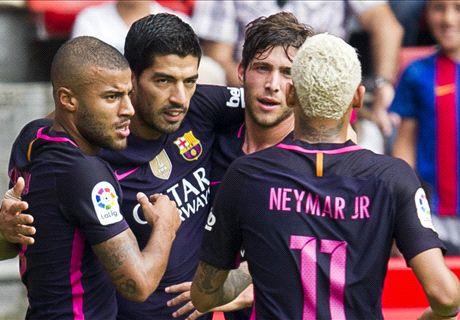 Sergi Roberto tremendous in Barca rout