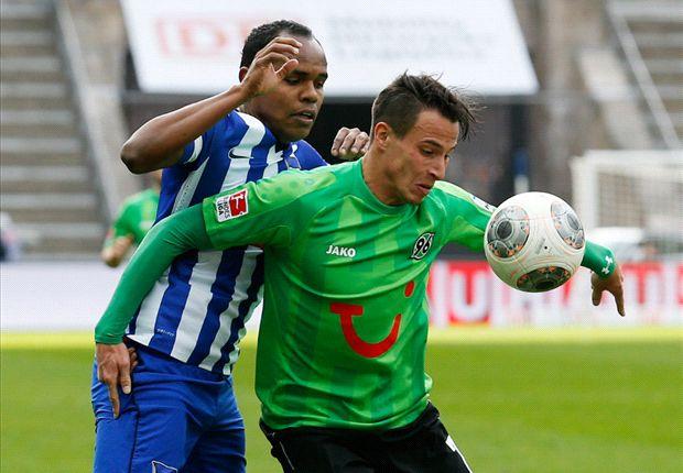 Herthas Ronny sah gegen Hannover 96 kein Land