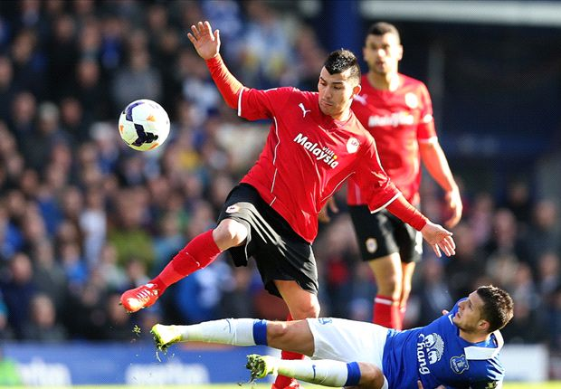 Gary Medel Kevin Mirallas Everton Cardiff City EPL 03152014