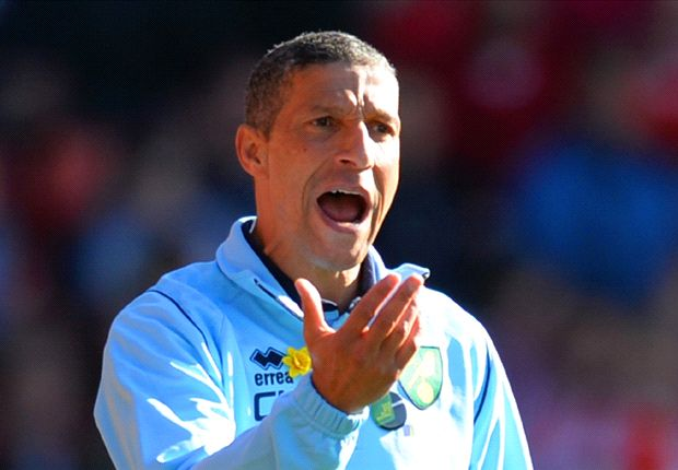 Hughton: No 40-point target for Norwich