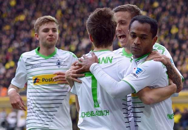 Gladbach feiert den Erfolg in Dortmund