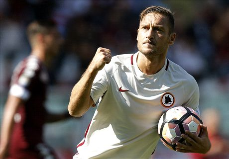 Totti reaches 250 Serie A goals